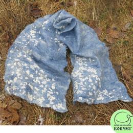 Валяный шарф «Вечерний снегопад»